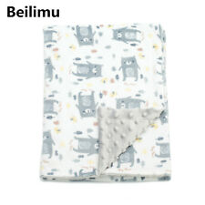 "Beilimu Baby Blanket for Girls Soft Double Layer Minky Dotted Backing 30""x40"" Us"