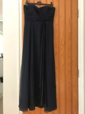 Coast silk maxi dress in navy, size 12. Worn twice only and in good condition.