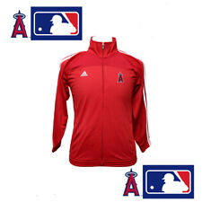 Adidas Los Angeles Angels Size Medium MLB Youth Red Zip Up Finished Track Jacket
