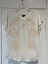 New White Escada Sport T-shirt With Swarovski Elements