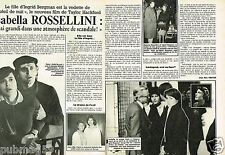 Coupure de Presse Clipping 1986 (2 pages) Isabella Rossellini