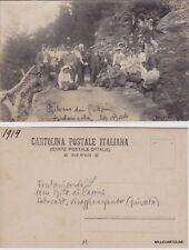 FONTANIGORDA: 1914 GITA AI CASONI - Fotocartolina viraggio argento (privata)