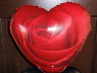 """18"""" FOIL BALLOON VALENTINES DAY RED ROSE HEART SHAPE BIRTHDAY ENGAGEMENT LOVE"""