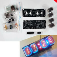 DIY KIT With Tubes Nixie Clock 4x IN-12  RGB Backlight Alarm *All parts & Tubes*