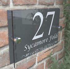 Anthracite Classic House Sign Door Number Street Address Plaque Modern Dec13WA