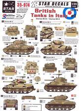 Star Decals 1/35 BRITISH TANKS IN ITALY Sherman MkIIA and Sherman Mk.III