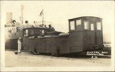 Panama Canal Electric Mule Rr Train Car c1915 Real Photo Postcard