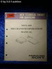 Sony OPERAZIONE Manual MDX 400 Mechanism (#0740)