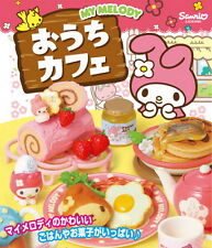 Miniatures Re-ment Sanrio My Melody Ouchi Cafe food  box  Set  , h#2