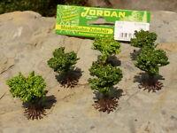 18-STÜCK Jordan BÜSCHE grün zum SONDERPREIS 1,5cm hoch für H0            9-3