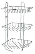 3 Tier Stainless Steel Wall Hanging Bathroom Corner Rack Caddy Organiser Holder