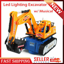 Toy for Kids Excavator Truck Toys LED Light Electric Vehicle Toy Car Cool Gift