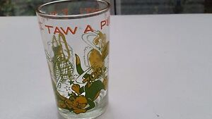 Vintage 1974 Looney Tunes Jelly Glass Tumblers Tweety, Sylvester & Granny 8 oz.