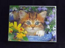 Springbok GARDEN HELPER 500 Piece Jigsaw Puzzle Cat Kitty Flowers NEW Sealed