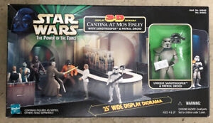 STAR WARS POWER OF THE FORCE 3D DIORAMA CANTINA AT MOS EISLEY WITH SANDTROOPER