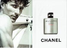 Publicité Advertising 088  2010   eau toilette homme Allure sport Chanel ( 2 pag