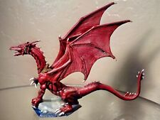 Ral Partha Dragon TSR PP501 Painted RED Black D&D Pewter Figurine 1988 Vintage