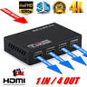 1 in 4 Out Full HD HDMI Splitter Amplifier 4 Port Hub Repeater 3D 4K 1080p