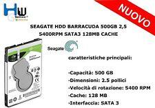 SEAGATE HDD BARRACUDA 500GB 2,5 5400RPM SATA3 128MB CACHE ST500LM030