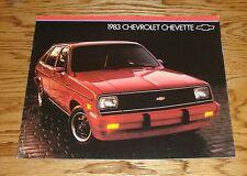 Original 1983 Chevrolet Chevette Sales Brochure 83 Chevy