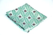 Lord R Colton Masterworks Pocket Square - Silver & Green Showbiz Silk - New