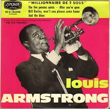 "LOUIS ARMSTRONG ""THE FIVE PENNIES SAINTS"" 60'S JAZZ EP LONDON 10.040"