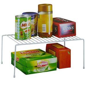 34cm Kitchen Cupboard Shelf Storage Support Pantry Stand Organiser Rack Can Sink