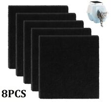 New listing 8 Pieces/set Activated Carbon Filters Cat Litter Box Charcoal Filter Cat Supply