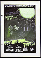 guida pubblicitaria UNIVERSAL film IT CAME FROM OUTER SPACE Jack Arnold SF 3D