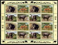 UNO Wien ZD-Bogen MiNr. 406-09 postfrisch MNH gefährdete Tierarten (Q11193