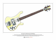 Chris Squire's Rickenbacker RM1999 Bass Limited Edition Fine Art Print A3 size