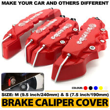 4x Disc Brake Caliper ABS Red 3D Style Front Rear Universal Car Truck Covers M+S