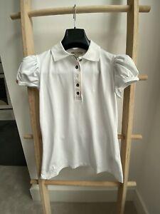BNWT 100% Authentic Burberry Women's Polo Shirt Short Sleeve Sz M
