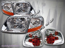 01 02 03 Ford F-150 F150 SVT Supercrew Harley Davidson Headlights & Tail Lights