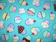 Cupcake On Blue Cherry Sweets Chefs Apron Baking Bar B Q Cookout Grilling Hot