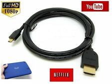 3 METER Micro HDMI Type D to HDMI A Cable 1080p HDTV Lead For Tablet Camera Mobi