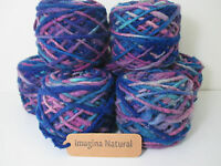 Free shipping Limited Edition Handspun Hand dyed yarn Bulky Chilean Wool