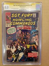 Sgt. Fury and His Howling Commandos #44 CGC SS Stan Lee VF 8.0 OW