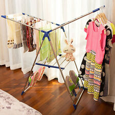 Household Clothes Drying Rack Laundry Folding Hanger Dryer Indoor Foldable US