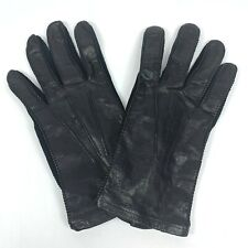 South African Cape Leather Black Hand Stitched Unlined Gloves 7 Made In USA