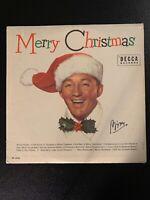 Bing Crosby Merry Christmas LP Decca 1950's Press SHRINK + Crisp Inner VG+!!!
