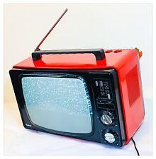"TV Television Portable Vintage Inter Spain Years '70 14"" B/N Working"
