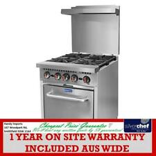 FED COMMERCIAL GASMAX 4 BURNER WITH OVEN FLAME FAILURE KITCHEN EQUIPMENT S24(T)