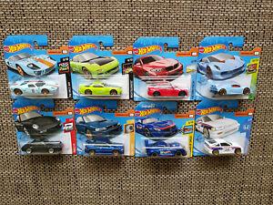 Lamborghini BMW Subaru   HOT Wheels  Hotwheels LOT of  8  cars  NEW 1:64