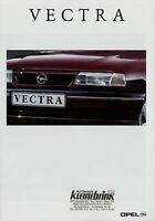 Opel Vectra Prospekt 8/92 36 S.  brochure 1992 Auto PKWs Deutschland Verkehr