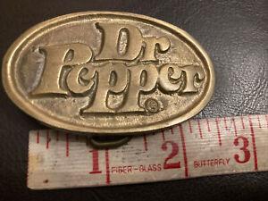 vintage 70s 80s Dr Pepper brass belt buckle