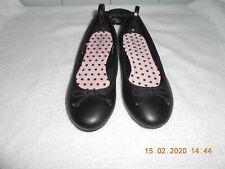 M&S GIRLS KIDS Black SCHOOL Shoes SLIP ON FLATS Size UK 3 BNWT