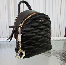 DKNY Lara Mini Quilted Leather Crossbody Bag Black with Dust Bag NWT