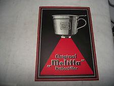 Original Melitta Kaffeefilter Werbung