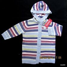 Gymboree Winter Princess Striped Sweater Duster Hoodie Button  2-2T NWT New HCTS